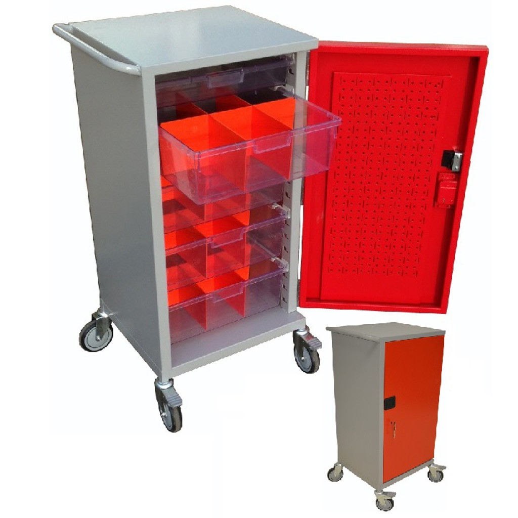 Small Meds Trolley with interchangeable shelves
