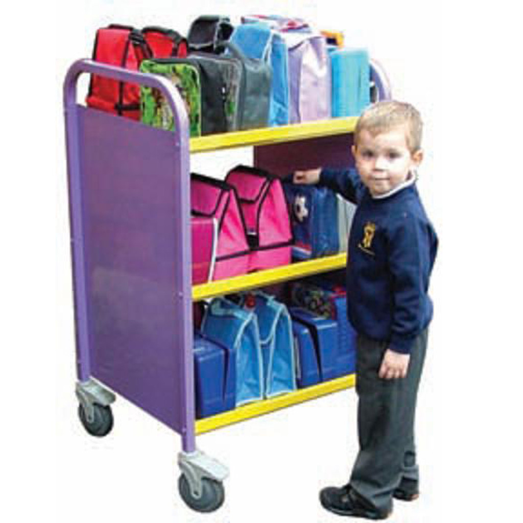 Double sided 30 box 3 tier Aluminium Lunchbox Trolley