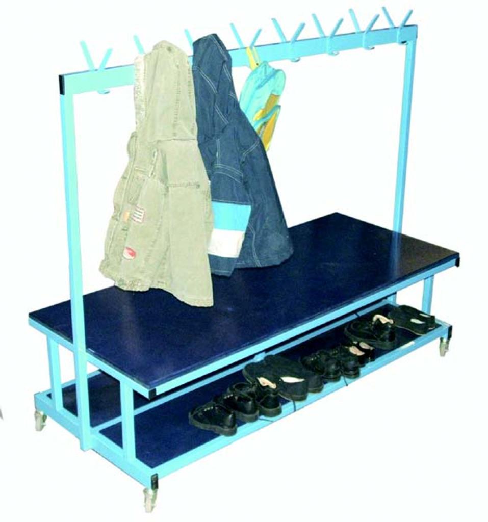 Double cloak room trolley & bench