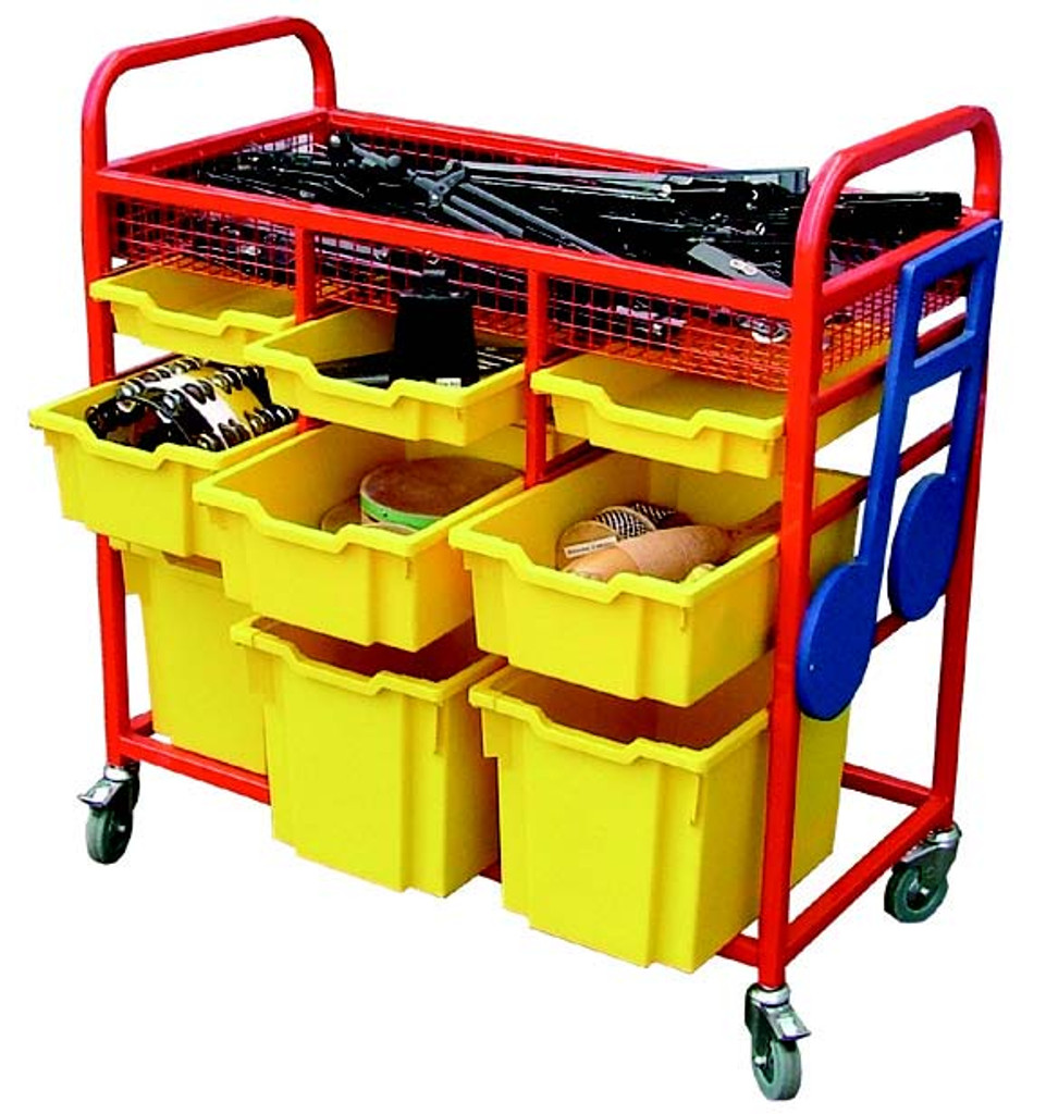Instrument storage trolley