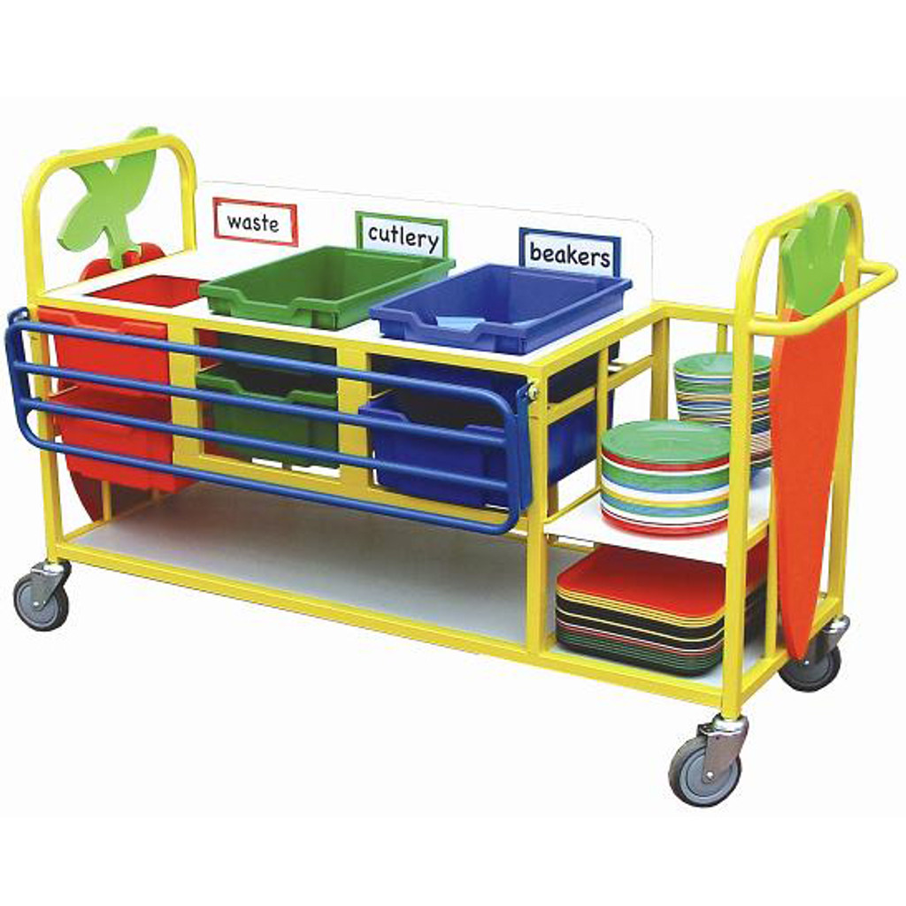 ClearingTrolley with Trayslide & shelf