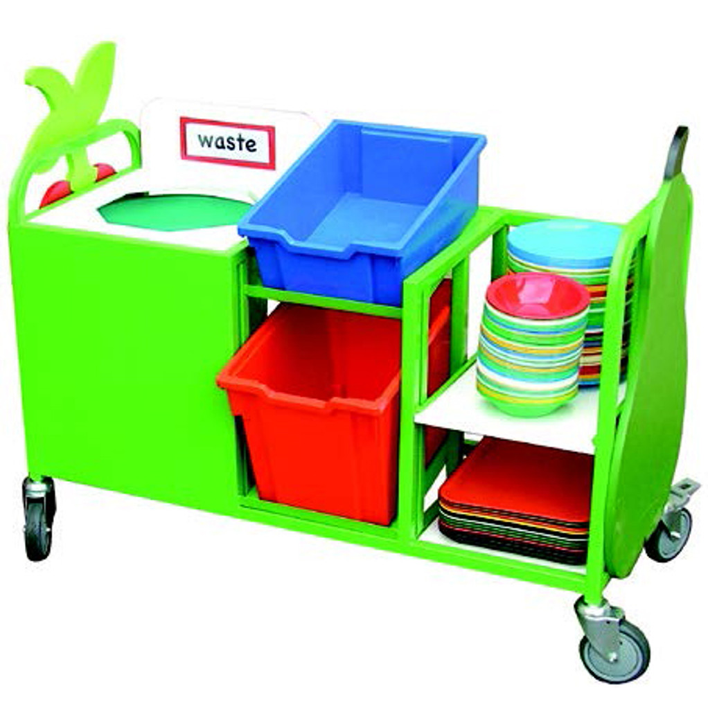 Mini Waste Trolley With Pull Out Shelf (9SDJTN)