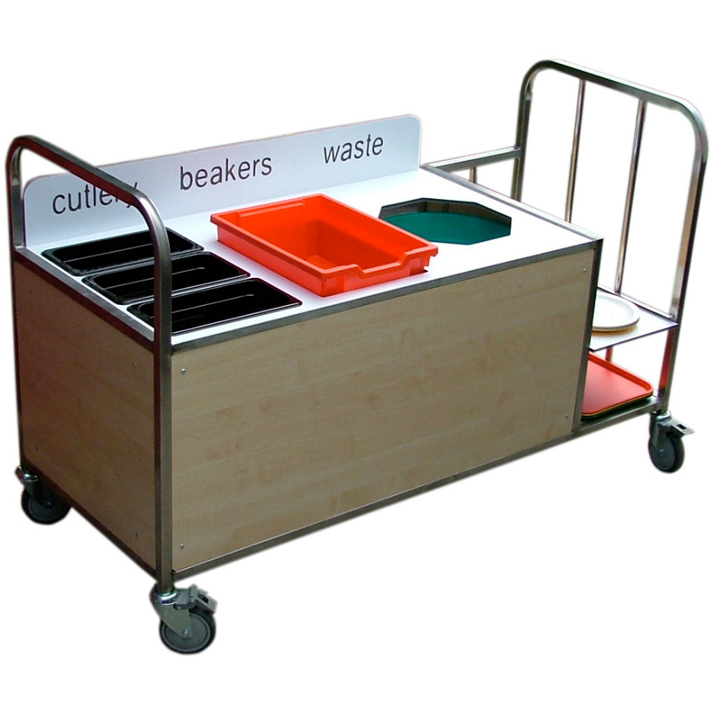 Stainless Steel Clearing Trolley (3SSCT2)