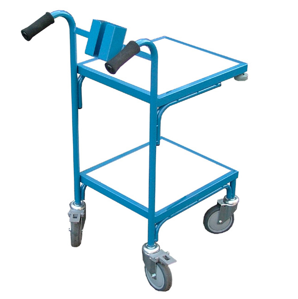 2 flat shelf trolley
