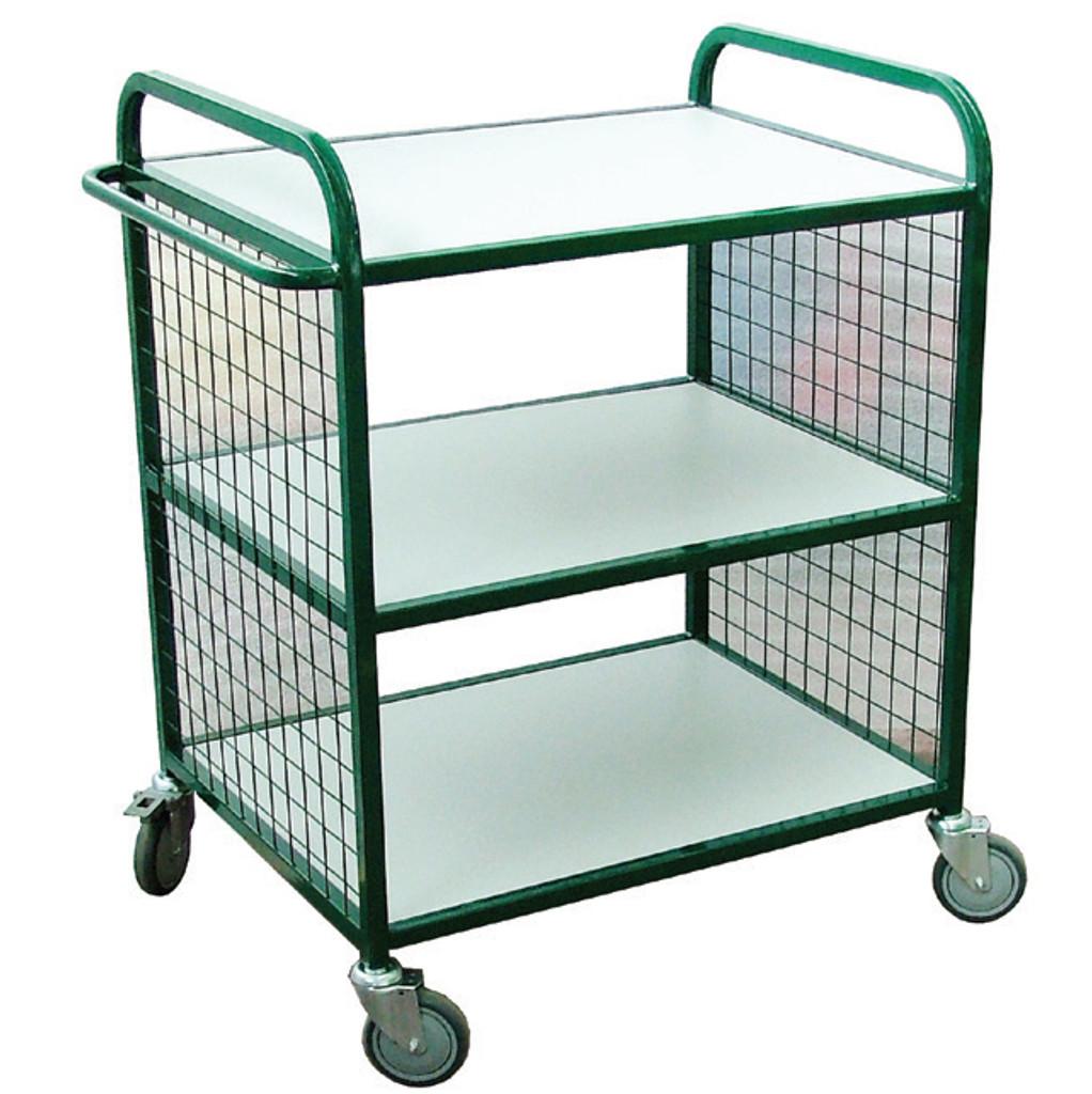 3 shelf mesh trolley