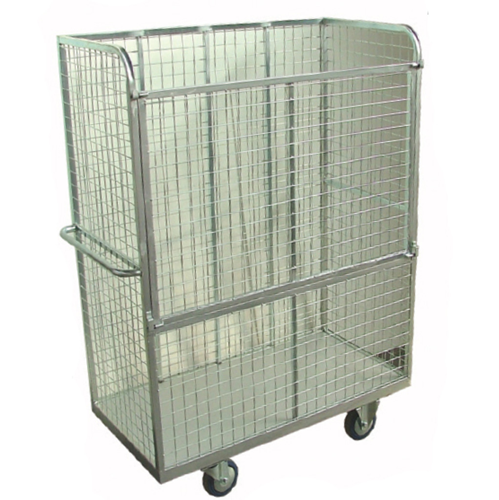 Mesh Trolley with Fold Down Door (IND6)