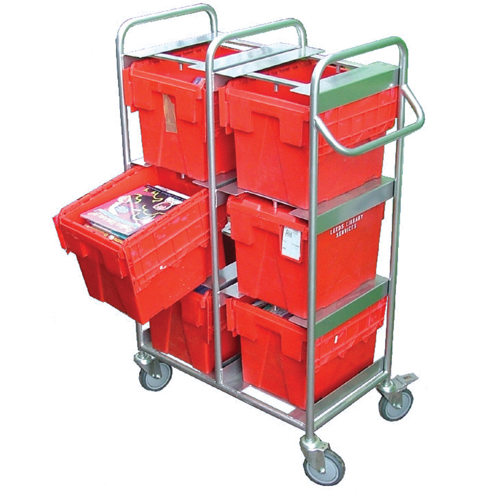 Small Tote 8 Box Mild Steel Trolley (BXMS8)