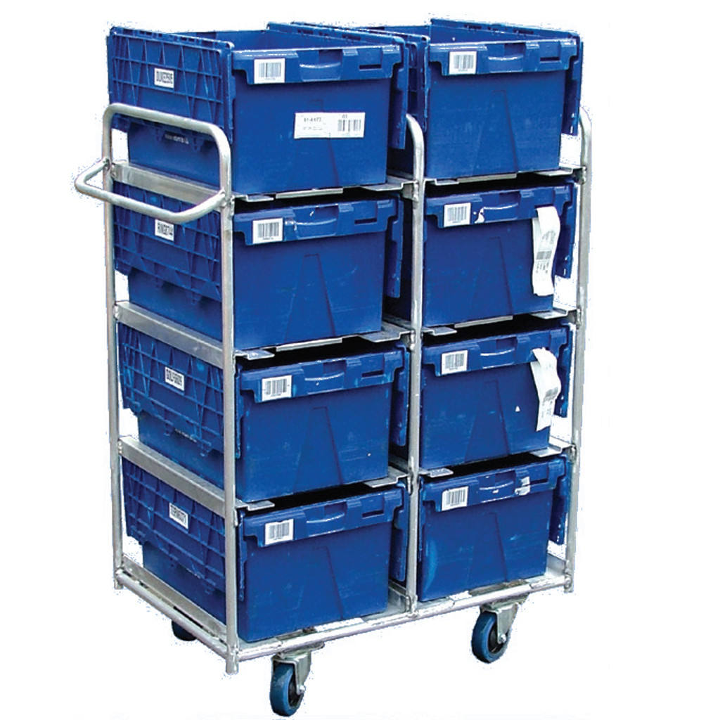 8 box Aluminium  trolley for boxes with lids