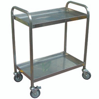 2 tier Trolley made of stainless steel
