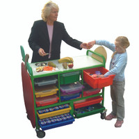 Large Mobile Fruit Trolley