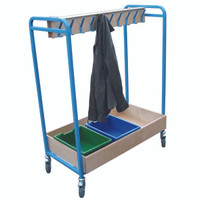 Cloakroom Tray Trolley