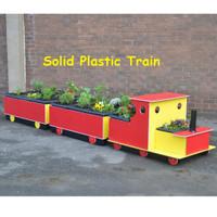Instant Garden, plastic train