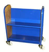 Double sided book trolley (GTMD2)