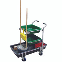Multi-purpose cleaning trolley