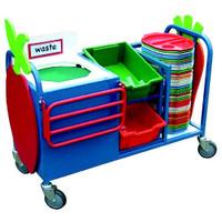 Mini Waste Trolley With Tray Runner (9SDJYN)