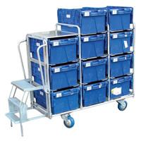 11 tote box Aluminium trolley