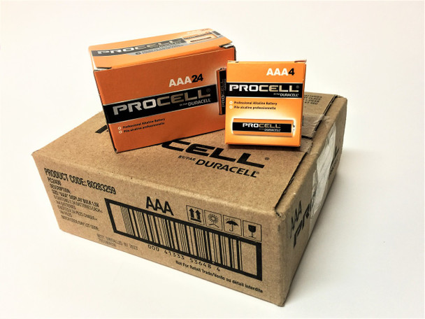 Duracell Procell AAA Batteries - Case of 144