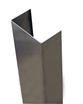 48'' x 2'' x 4.875'' x 2'' (Inside Dimensions)- 90 Deg, 16ga, Type 304, Satin #4 Finish, Stainless Steel End Wall Cap