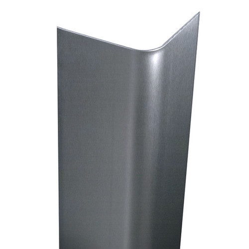 Stainless Steel Corner : In ga brushed bullnose stainless steel wall