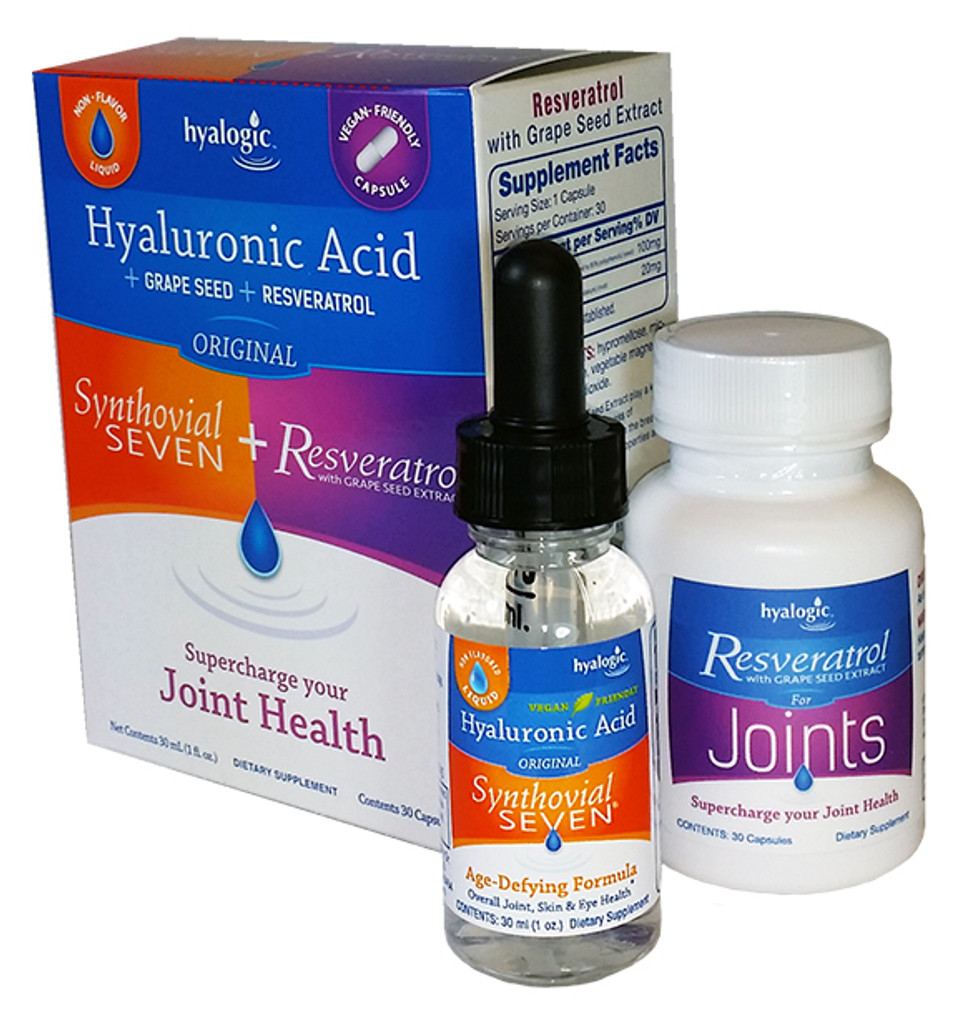 Synthovial Plus Liquid HA and Resveratrol & Grape Seed Extract
