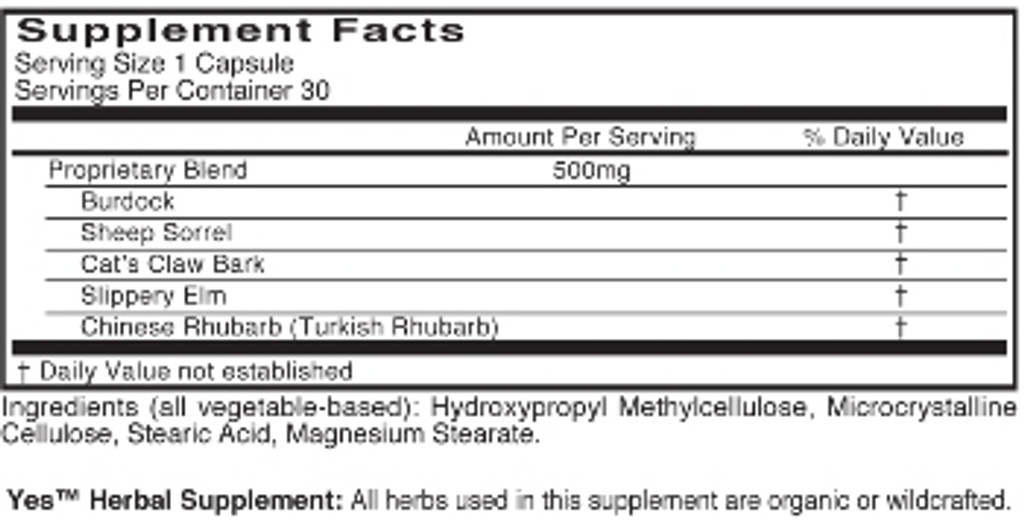 Yes Herbal Supplement, Capsules