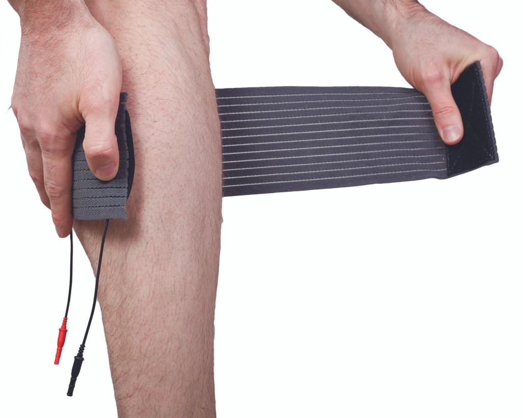 SarcoStim - Ankle System (Calf Wrap W/ 3 By 5 Dual Pad) W/ 8oz Spray
