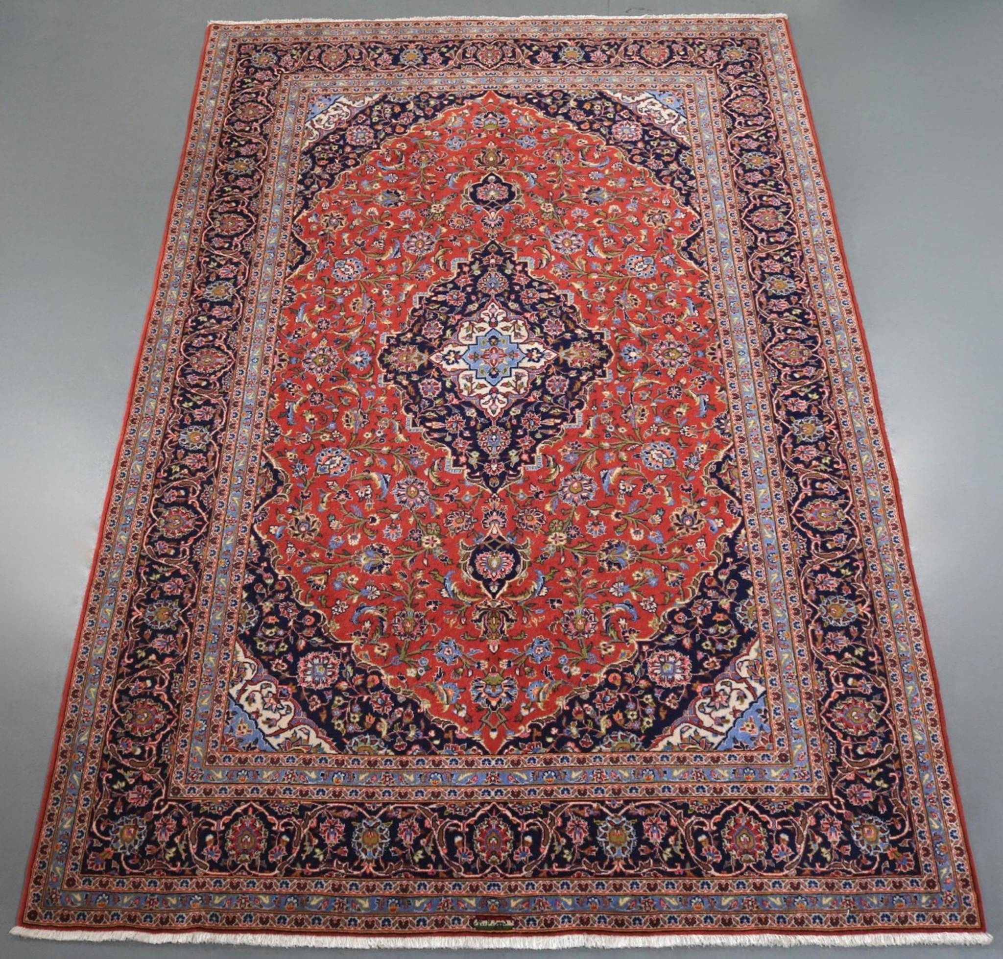 Persian Rugs Australia: Kashan Kork Wool Persian Rug (Ref 63) 327x204cm