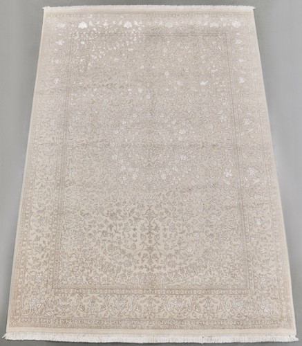 Transitional Wool & Silk Designer Rug (Ref 9187) 293x197cm