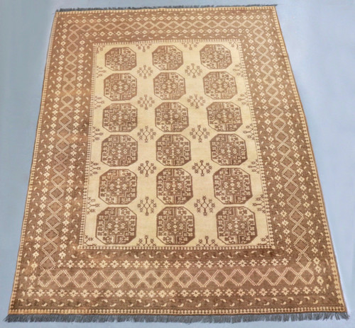 Golden Elephant's Foot Bokhara Tribal Rug (Ref 915) 280x202cm