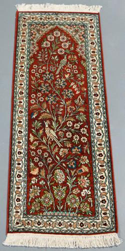 Kashmir Pure Silk Rug (Ref 3171) 121x45cm