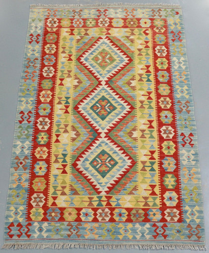 Veggie Dye Afghan Kilim (Ref 106736) 192x120cm