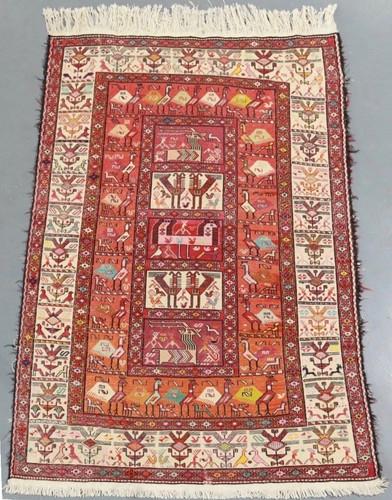 Ardabil Pure Silk Persian Kilim (Ref 123) 181x122cm