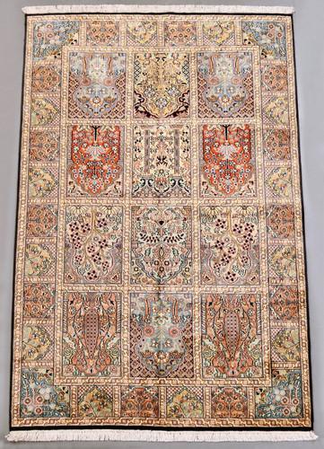 Kashmir Pure Silk Rug (Ref 461) 189x123cm
