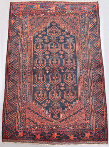 Zanjan Hamadan Vintage Persian Rug (Ref 124) 215x135cm