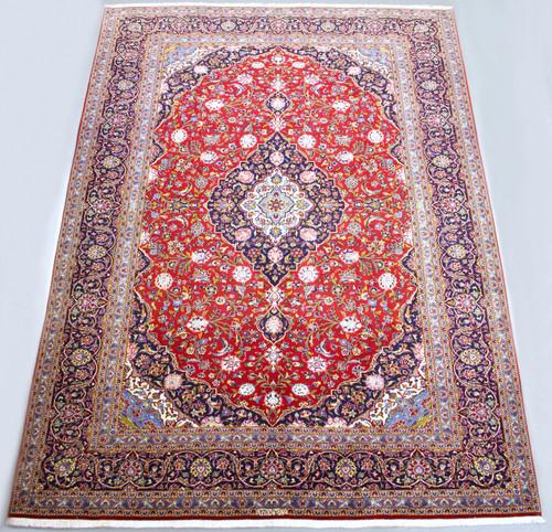 Kashan Kork Wool & Silk Persian Rug (Ref 1048) 350x255cm