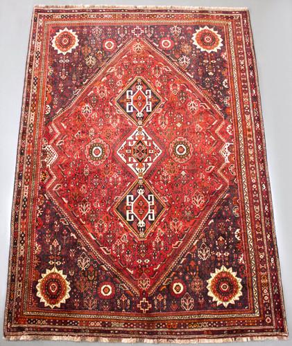 Shiraz Qashqai Vintage Persian Rug (Ref 7) 326x225cm