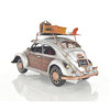 "Volkswagen VW Beetle Bug Metal Toy Car Scale Model 11"" w/ Surf Board"