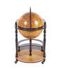 Old World Globe Hidden Home Bar Trolley