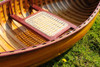 Display Cedar Wood Strip Canoe Wooden Model Boat