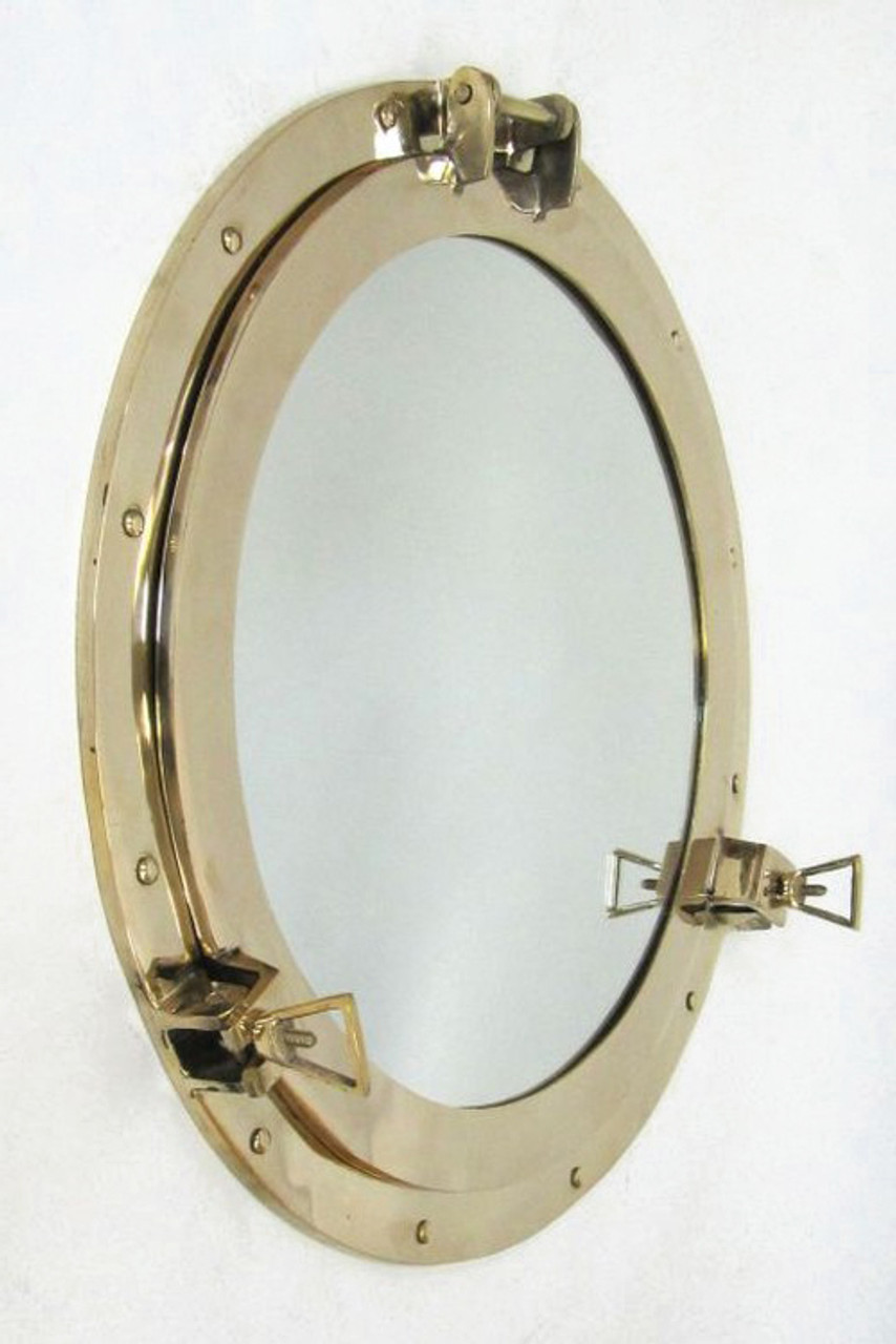 Porthole Mirror Nautical Brass Round Wall Decor
