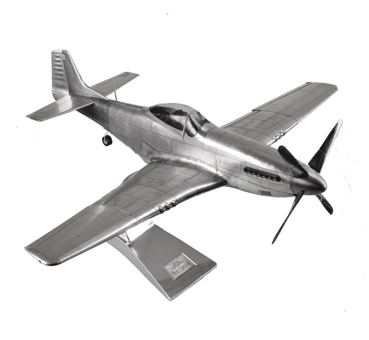 North American P 51 Mustang Aluminum Airplane Model 26