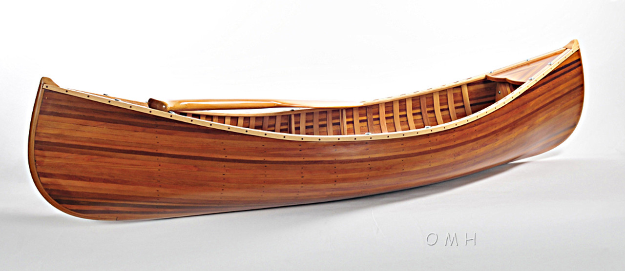 Display Cedar Strip Canoe Model Matte Finish