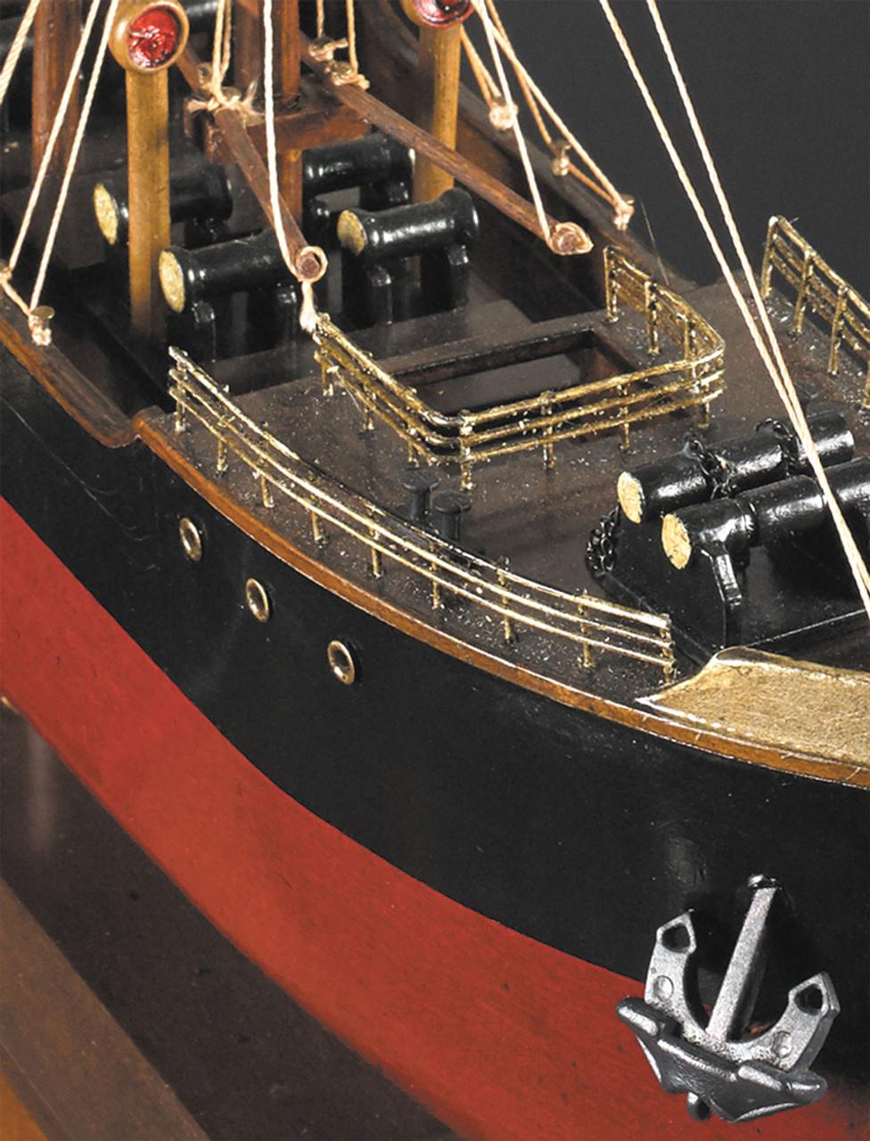 1897 Malacca Tramp Steamer Wooden Cargo Ship Model 26 75