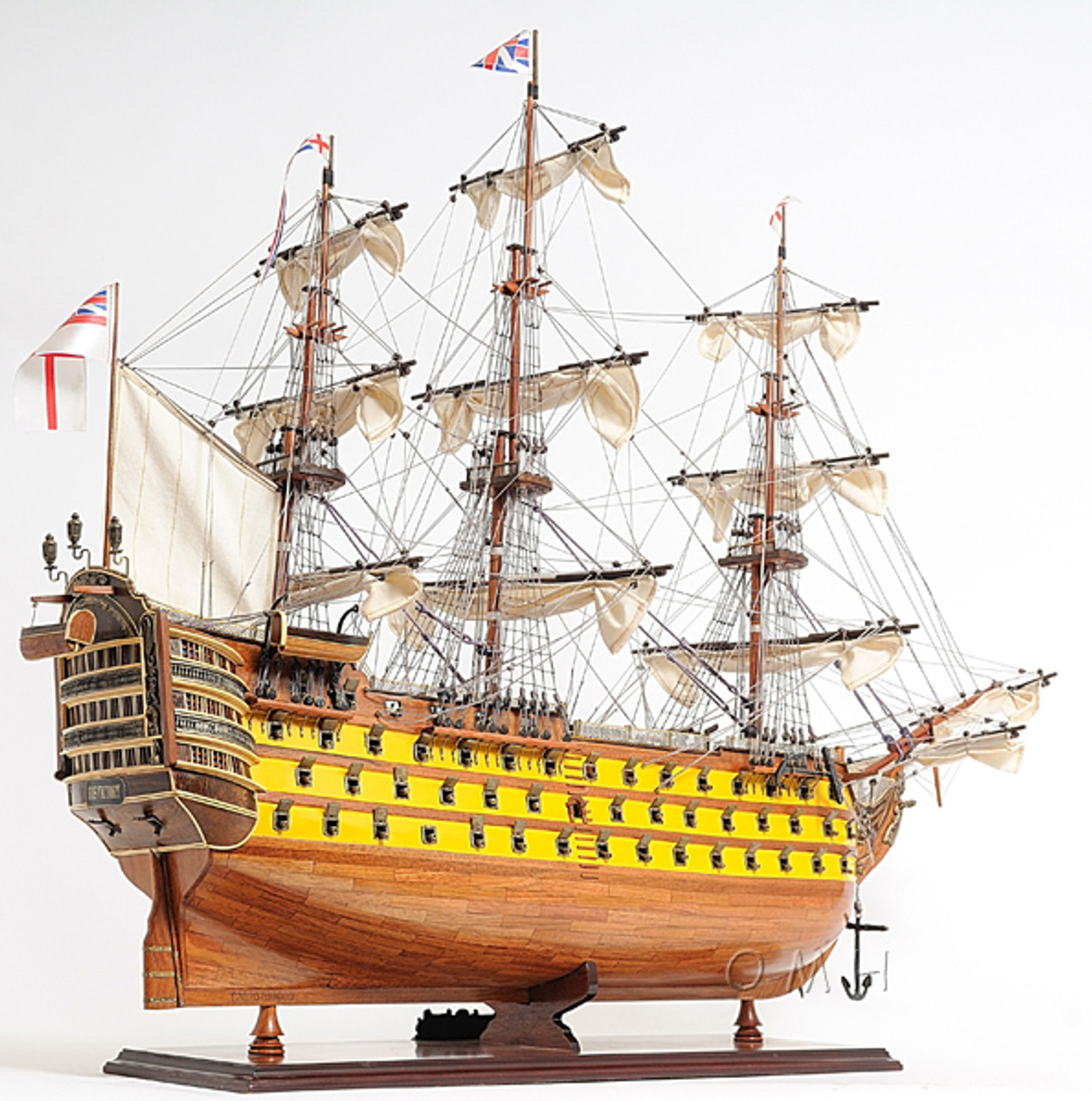 HMS Victory Painted Model British Royal Navy