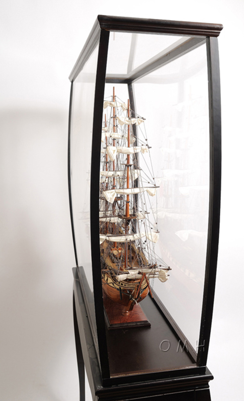 Tall Ship Model Boat Display Case Cabinet Stand