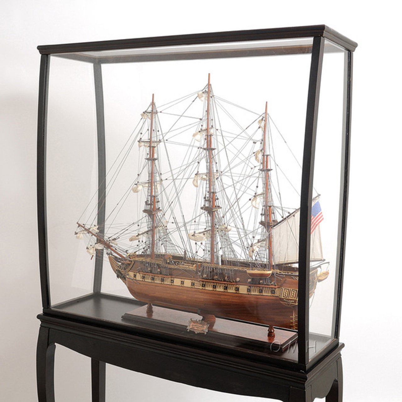 Tall Ship Model Display Case Cabinet Stand