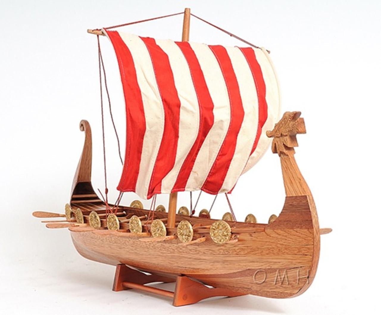 Drakkar Dragon Viking Ship Model Boat Sailboat