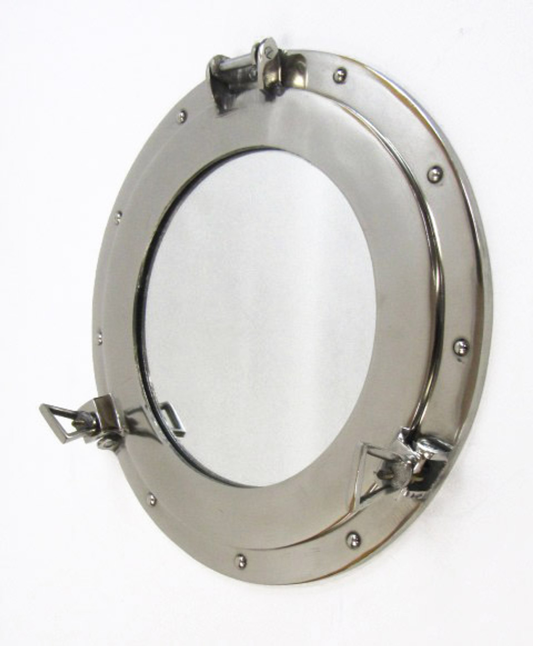 Aluminum Chrome Finish Ship's Cabin Porthole Mirror