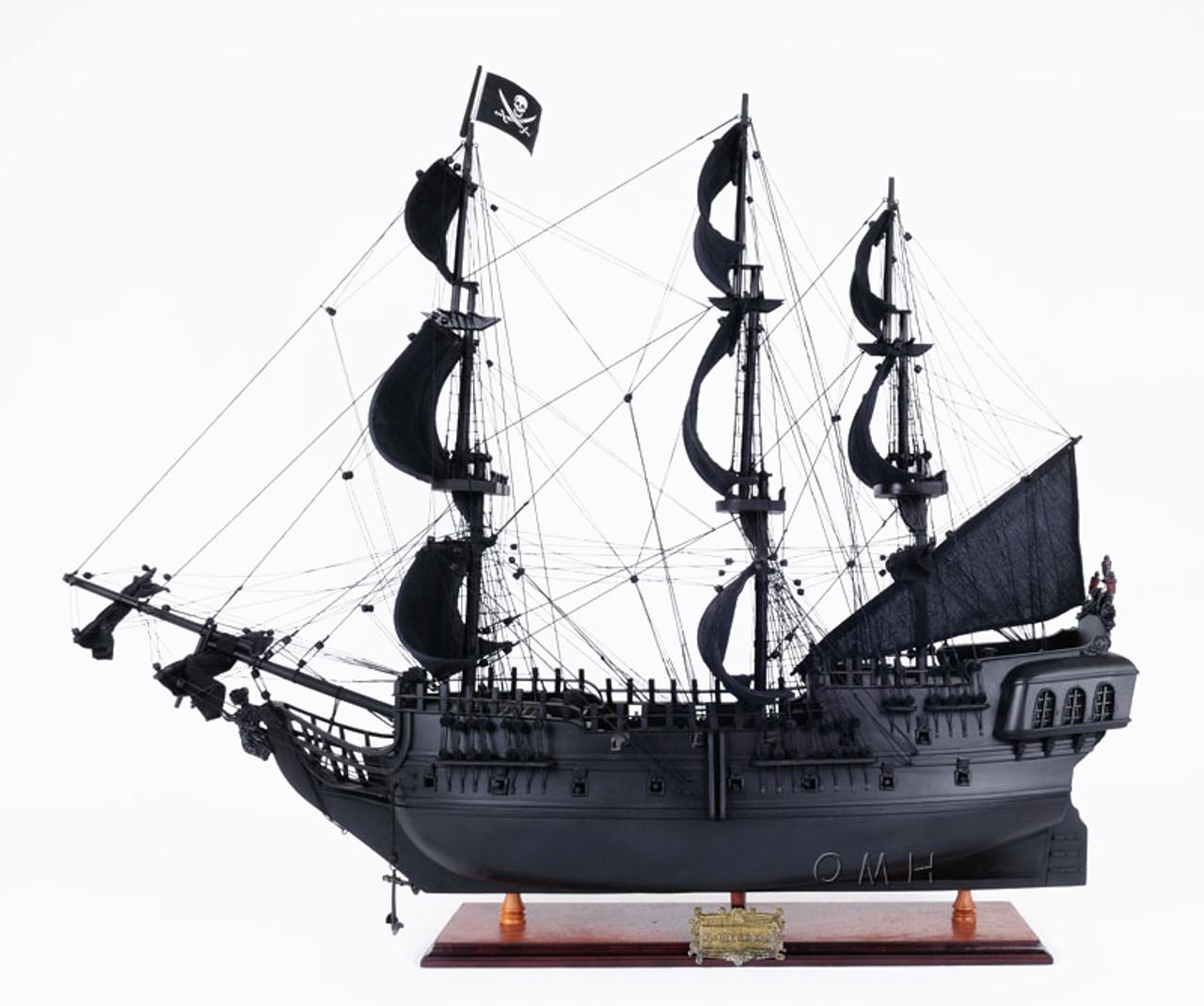 Black Pearl Caribbean Pirate Ship Wooden Model
