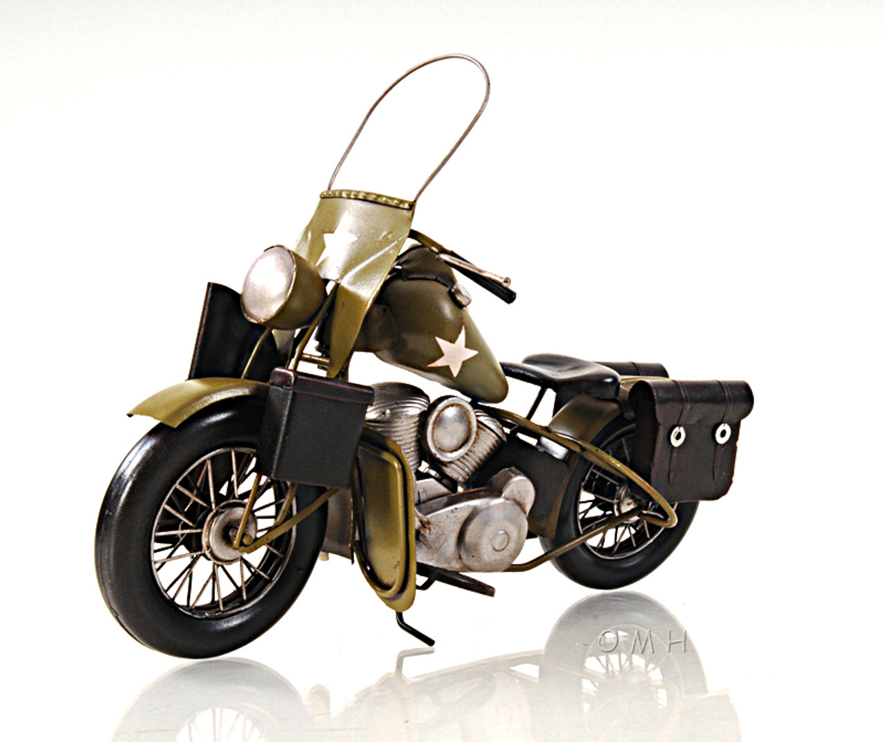 1942 Harley Davidson Military Motorcycle Metal Model